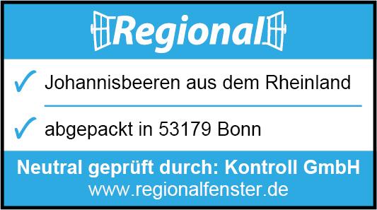 Sie sehen eine Regionalfensterkennzeichnung für Johannisbeeren aus dem Rheinland
